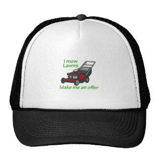 I MOW LAWNS CAP