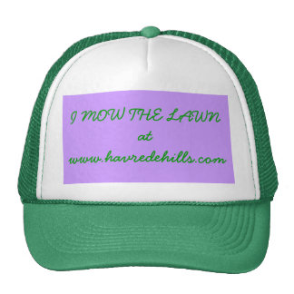 I MOW THE LAWN MESH HATS