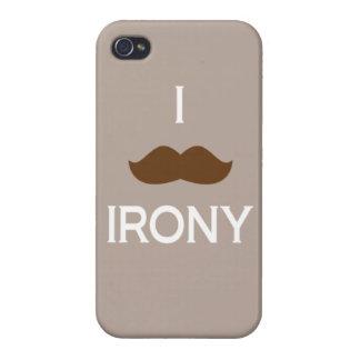I mustache irony iPhone 4 cover