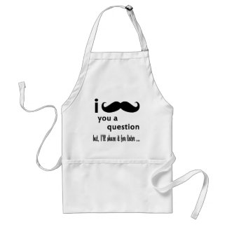 I Mustache You A Question Gifts Standard Apron
