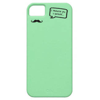 i mustache you a question mini pastel green barely there iPhone 5 case
