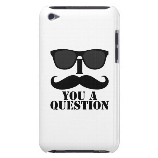 I Mustache You a Question Sunglasses Barely There iPod Cover