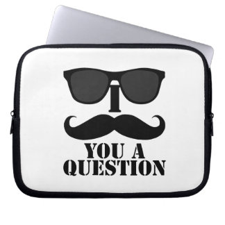 I Mustache You a Question Sunglasses Laptop Computer Sleeves