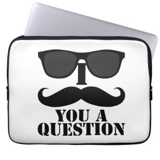 I Mustache You a Question Sunglasses Laptop Computer Sleeve