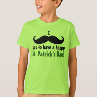I Mustache You Happy St. Patrick's Day Kid's Shirt