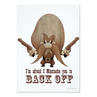"""I Mustache You To Back Off 5"""" X 7"""" Invitation Card"""