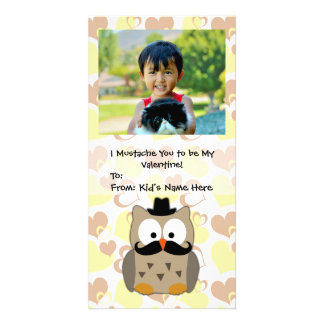 I Mustache You to be My Valentine Kids Photo Card Template