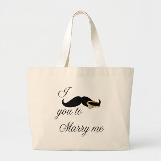 I Mustache you -to Marry Me Canvas Bag