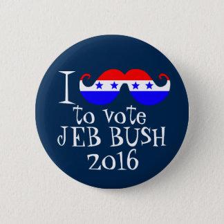 I Mustache You to Vote Jeb Bush 2016 6 Cm Round Badge