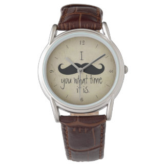 I Mustache You What Time It Is Funny Watch