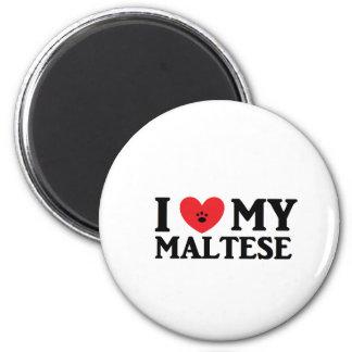 I ♥ My Maltese 6 Cm Round Magnet