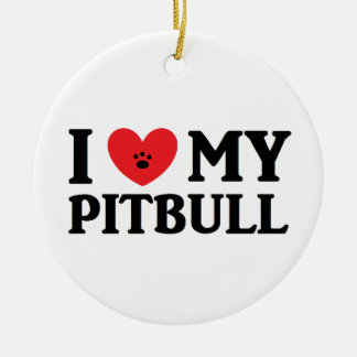 I ♥ My Pitbull Ornament