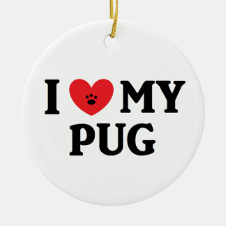 I ♥ My Pug Ornament