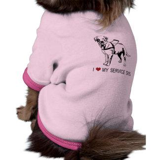 I ❤ my Service Dog words & graphic Dog Clothing