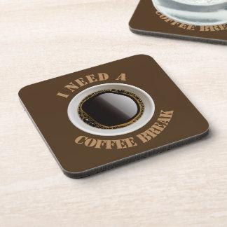 I Need A Coffee Break (brown) Coasters (set of 6)
