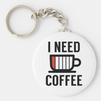I Need Coffee Key Ring