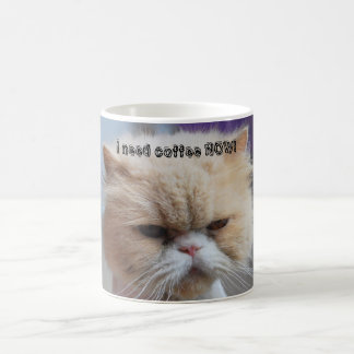 I Need Coffee Now Persian Cat Coffee Mug