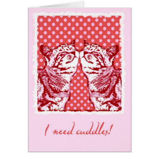 i need cuddles card