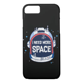I Need More Space Aerospace Rocket Helmet iPhone 8/7 Case