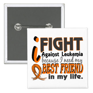 I Need My Best Friend Leukemia 15 Cm Square Badge