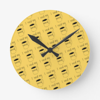 I need my coffee round clock