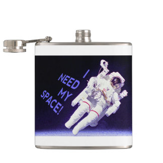 I Need My Space Hip Flask