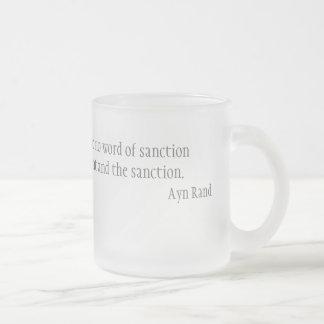 I need no warrant frosted glass mug