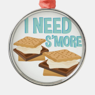I Need Smore Silver-Colored Round Decoration