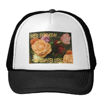 I NEED SYMPATHY... MY COMPUTER DIED HAT