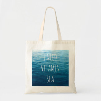 I NEED VITAMIN SEA - Bag with sea background.
