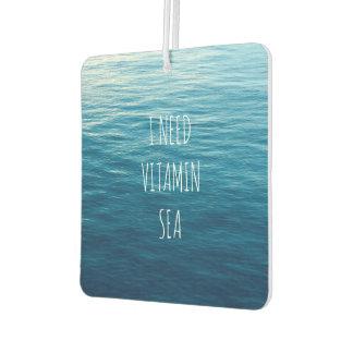 I NEED VITAMIN SEA - Car freshener. Car Air Freshener