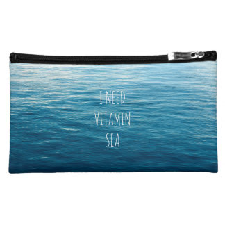 I NEED VITAMIN SEA - Cosmetic bag with waves.