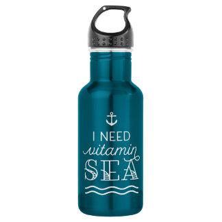 I Need Vitamin Sea Electric Blue Water Bottle 532 Ml Water Bottle