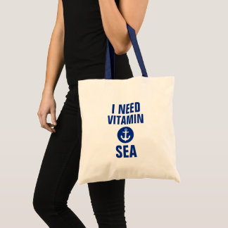 I Need Vitamin Sea Nautical Blue Anchor Tote Bag B