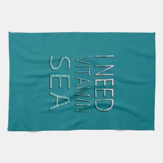 I NEED VITAMIN SEA TEA TOWEL
