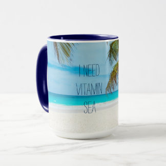 I Need Vitamin Sea Tropical Beach Palm Tree Mug