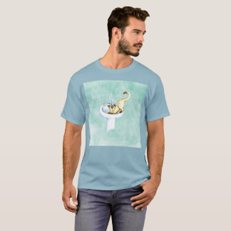 I Need Water Gato Cat Art Watercolor Rare T-Shirt