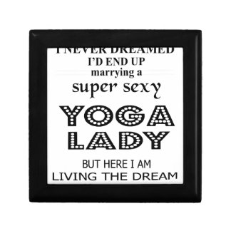 I never dreamed marrying a sexy yoga lady gift box