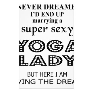 I never dreamed marrying a sexy yoga lady stationery