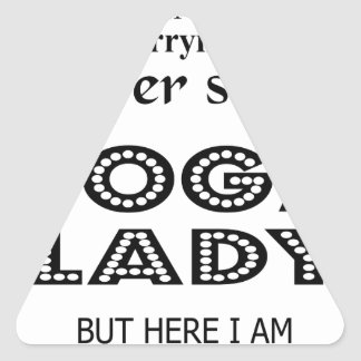 I never dreamed marrying a sexy yoga lady triangle sticker