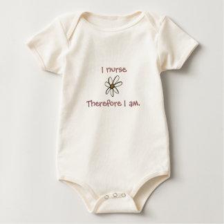 I nurseTherefore I am. Baby Bodysuit