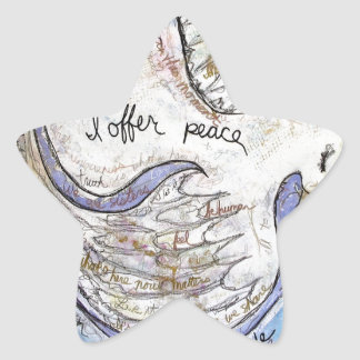 I offer peace star sticker