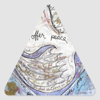 I offer peace triangle sticker