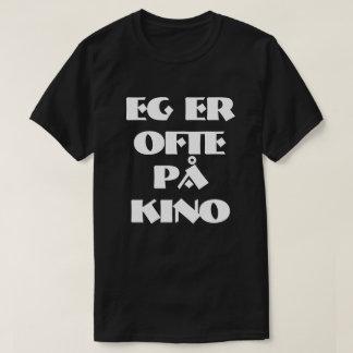 I often go to the cinema in Norwegian black T-Shirt