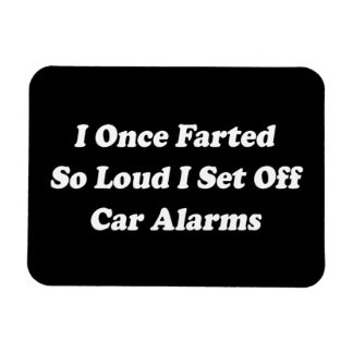 I Once Farted So Loud I Set Off Car Alarms Magnet
