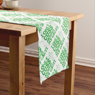 i only cuss around my cacti short table runner