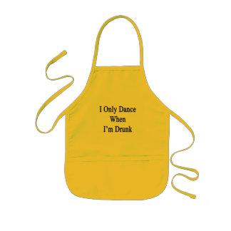 I Only Dance When I'm Drunk Kids Apron
