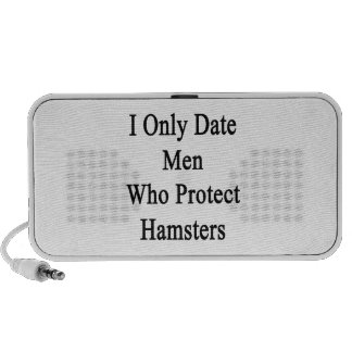 I Only Date Men Who Protect Hamsters iPod Speaker