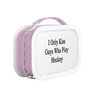 I Only Kiss Guys Who Play Hockey Lunchboxes