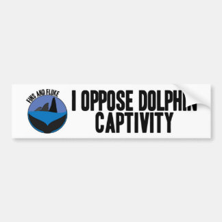 I Oppose Dolphin Captivity Bumper Sticker
